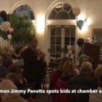 Video: Panetta spots for auction at chamber dinner dance