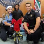 Hollister police team up for bicycle giveaway