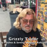 Video: 'Grizzly' talks patches, Hollister biker rally at vendor stand