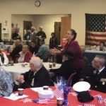 Video: LULAC event attendees stand to honor veterans