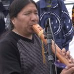 Music: Native American flute player at San Juan festival