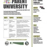 Parent University open to all students, parents
