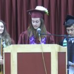 Video: Anzar valedictorian, salutatorians give speech together