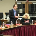 Tiffany honored after 16 years on school board
