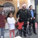 Hollister police give out bicycles to local children