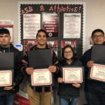 SBHS honors four students with Baler STRONG awards