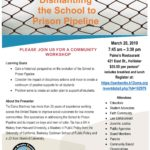 'Dismantling the School to Prison Pipeline' workshop coming in March