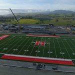 Video: Flyover view of progress at new SBHS field