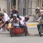 Video: Bathtub races spill over into Baler Alley
