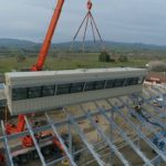 Video: Drone view showing installation of new SBHS stadium score booth