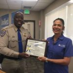 Photo: CHP commish honors area school bus driver of year