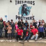 Wet weather doesn't stop Tres Pinos School cleanup efforts