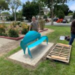 Public art benches installed at Dunne Park
