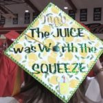 Video: SBHS grads show creativity with cap designs