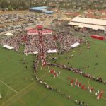 Video: Drone view of walk-in at SBHS graduation