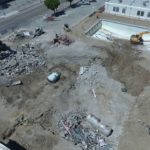 Video: Drone view of SBHS pools being demolished