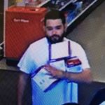 Suspect sought in grand theft from Hollister Target
