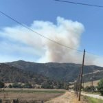 Smoke in hills caused by prescribed burn