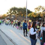 Hundreds embrace Walk to School Day in Hollister