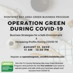 Webinar to inform on businesses staying green during pandemic