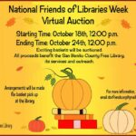 Library hosting online auction featuring donated gift baskets